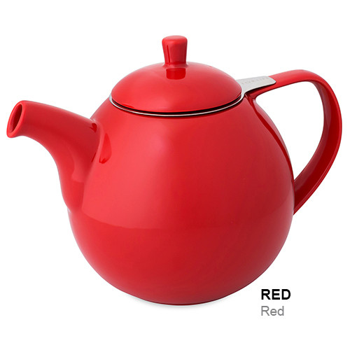 Teapot, Curve 45oz. (Red)