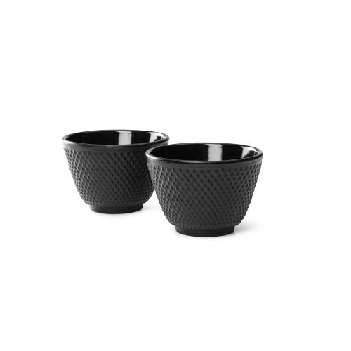 Tea Mugs, Cast Iron Black JANG