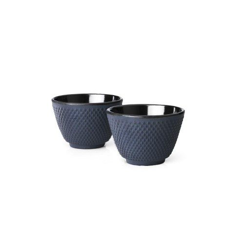 Tea Mugs, Cast Iron Blue JANG