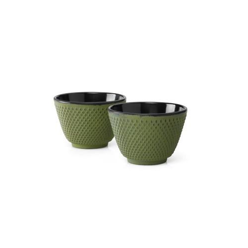Tea Mugs, Cast Iron Green JANG