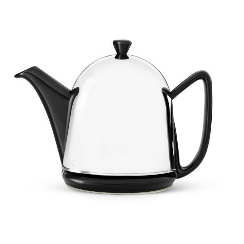 Teapot, 34 FL.OZ. Teapot Ceramic/ SS Black MANTO