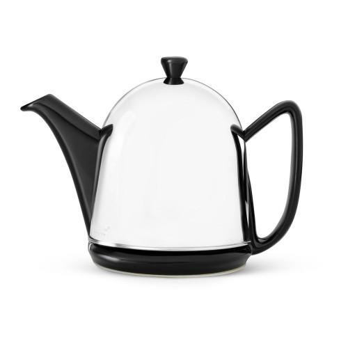 Teapot, 34 FL.OZ. Teapot Ceramic/ SS Black MANTO