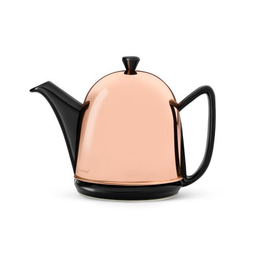 Teapot, 34 FL.OZ. Teapot Ceramic/Copper Black MANTO