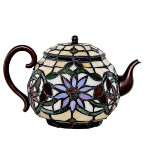 Lamp, Tiffany Teapot Accent
