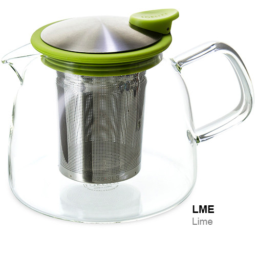 Teapot, Glass Bell 24oz (Lime)