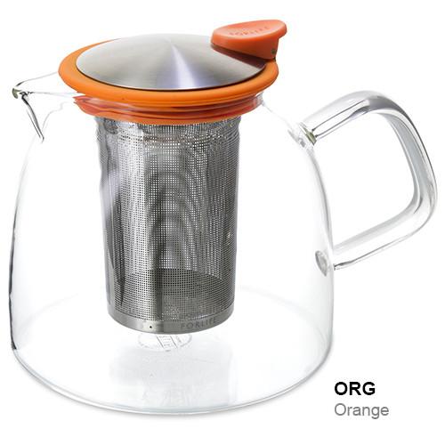 Teapot, Glass Bell 43oz (Carrot)