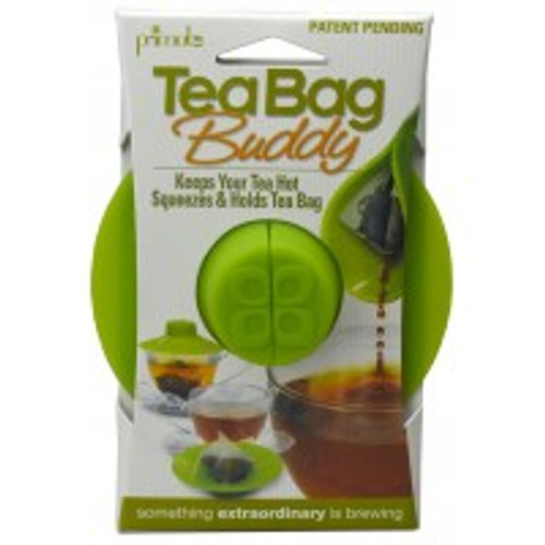 The Tea Bag Buddy is an innovative new item that creates a solution to the tea drinker's most common problems. It provides a convenient way to secure the tea bag string while covering the mouth of a tea pot or mug, trapping steam to keep tea hotter when brewing for optimal flavor and temperature