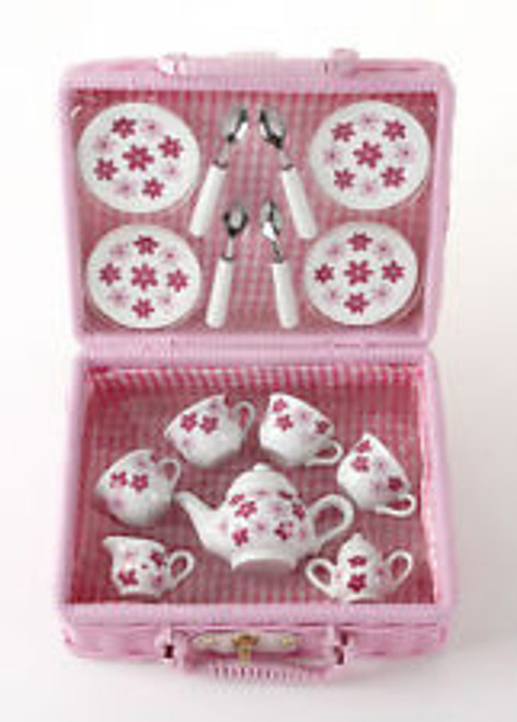 Childrens Tea Set, Pink Daisy
