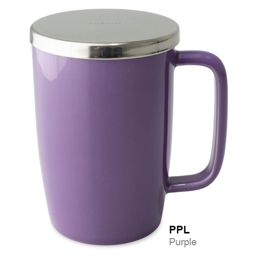 Enjoy your favorite tea in our largest mug yet. The large stainless steel infuser with extra-fine holes allows tea to expand fully, bringing out more flavor and fragrance. The stainless steel lid serves as an infuser holder.