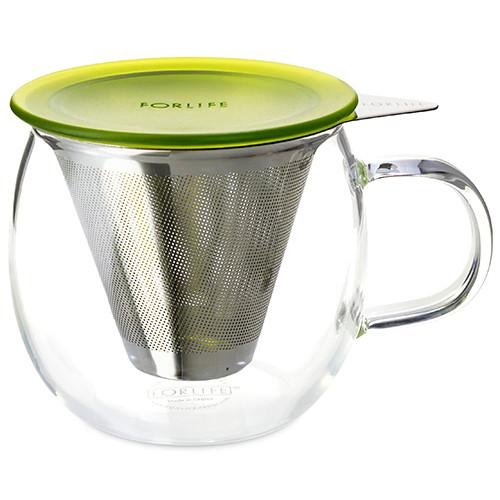 Mug, Glass Lucidity 12 oz. (Peridot)