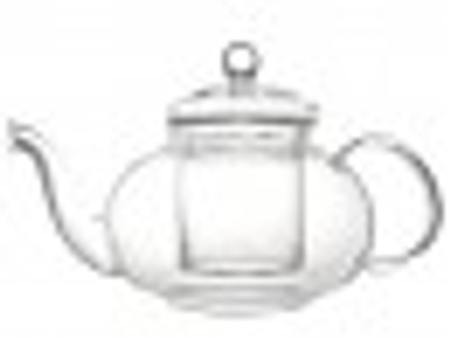 Teapot, Glass Verona 17 fl. oz