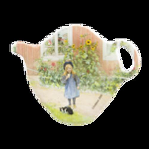 Tea bag holer, Britas garden