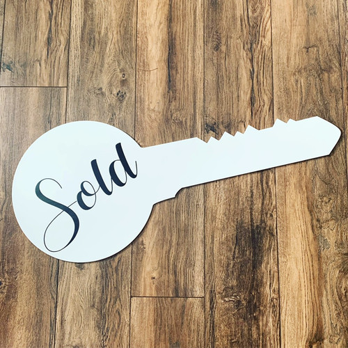 Custom SOLD realtor keys