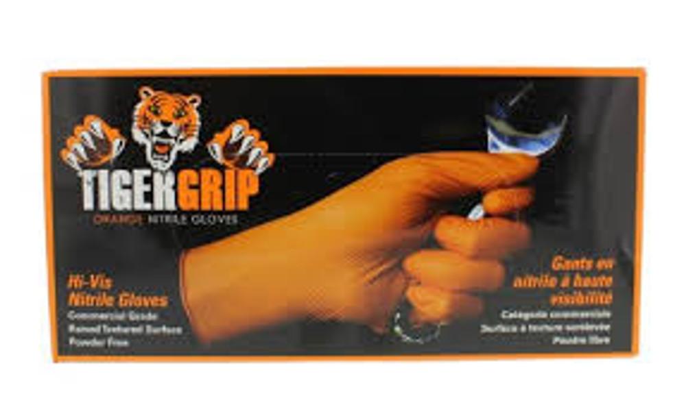TIGER GRIP ORANGE XL 7MIL 90 nitrile