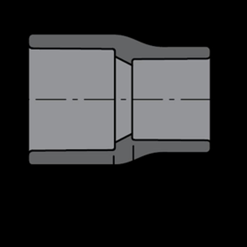BUSHING PVC 80 REDUCER 2 X 1/2