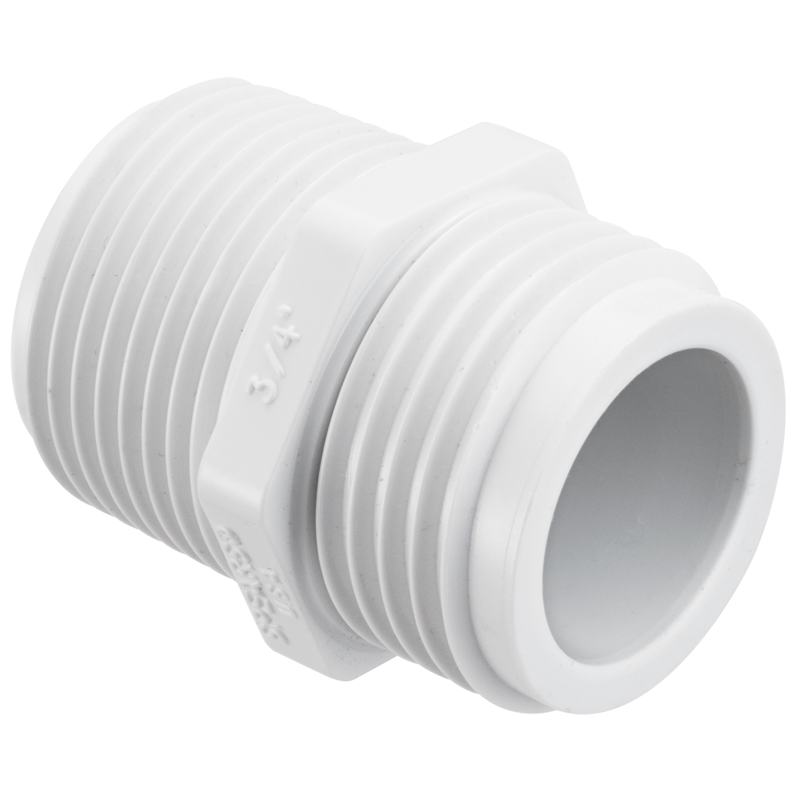 SCHEDULE 40 PVC 3/4 TRANSITION NIPP