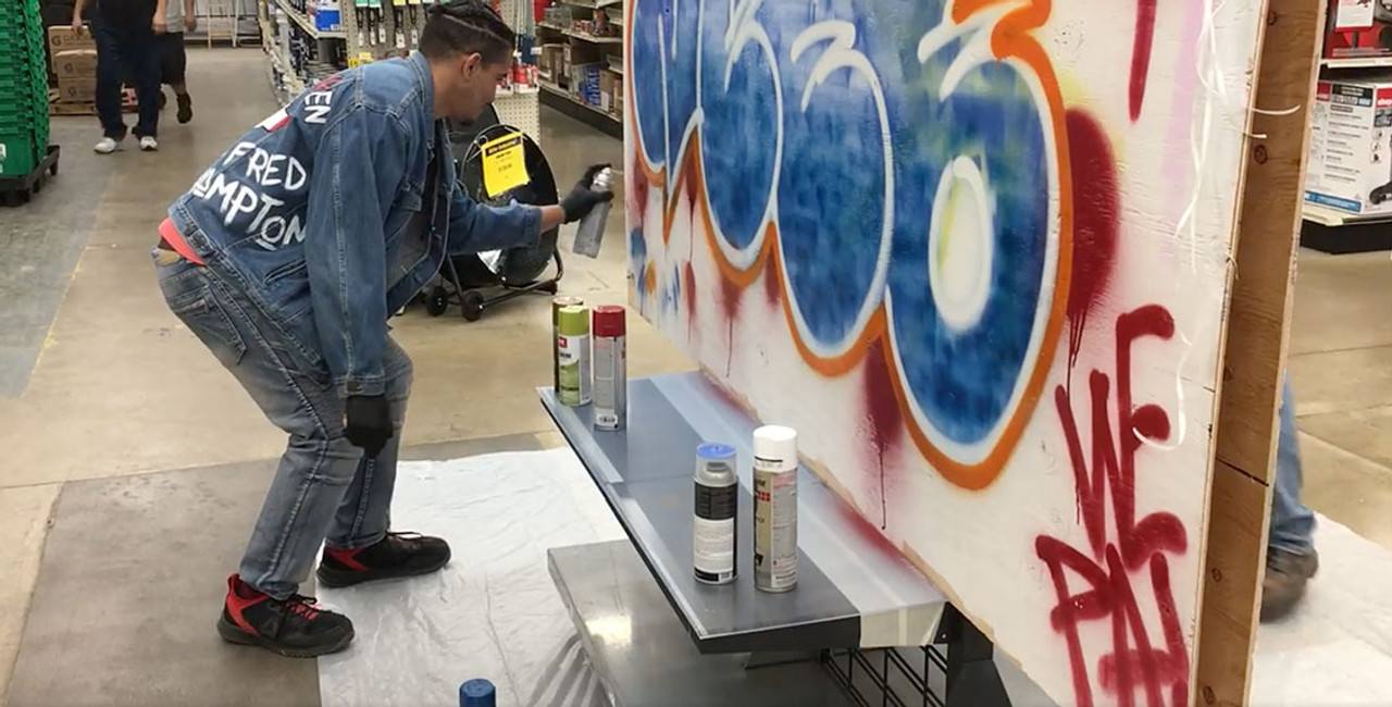 Miller's Graffiti Wall Madness Event