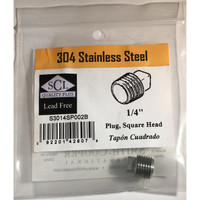 Smith-Cooper 1/4 in. MPT Stainless Steel Square Head Plug