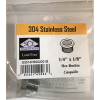 Smith-Cooper 1/4 in. MPT x 1/8 in. Dia. FPT Stainless Steel Hex Bushing
