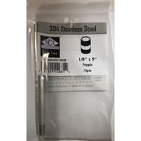 Smith-Cooper 1/8 in. MPT x 5 in. L Stainless Steel Nipple