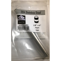 Smith-Cooper 1/8 in. MPT x 6 in. L Stainless Steel Nipple
