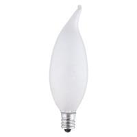 Westinghouse 40 watt CA9 1/2 Decorative Incandescent Bulb E12 (Candelabra) Warm White 2 pk