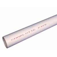 Charlotte Pipe Schedule 40 PVC Pressure Pipe 1 in. Dia. x 10 L Plain End 450 psi