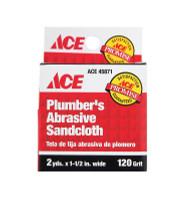 Ace 2 L x 1-1/2 W 120 Grit Aluminum Oxide Sanding Cloth 12 pk