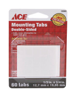 Ace Double Sided 1/2 in. W x 3/4 in. L Mounting Strips White