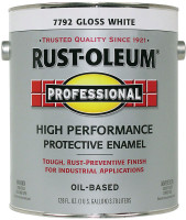 Rust-Oleum Gloss White Oil-Based Protective Enamel Indoor and Outdoor 400 g/L 1 gal.
