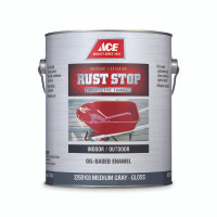 Ace Rust Stop Indoor / Outdoor Medium Gray Oil-Based Enamel Paint 1 gal