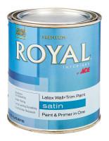 Ace Royal Satin Neutral Base Vinyl Acetate/Ethylene Interior Latex Wall+Trim Paint Indoor 1 q