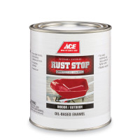 Ace Rust Stop Indoor and Outdoor Gloss Tintable Base Neutral Base Rust Prevention Paint 1 qt.