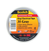 Scotch 3/4 in. W x 66 ft. L Gray Vinyl Electrical Tape