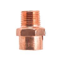 Mueller Streamline 3/4 in. Copper x 1/2 in. Dia. MIP Copper Pipe Adapter