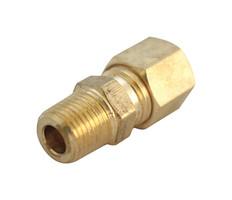 ACE 3/16 in. Compression x 1/8 in. Dia. Male Brass Compression Adapter