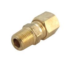 ACE 5/16 in. Compression x 1/4 in. Dia. Male Brass Compression Adapter