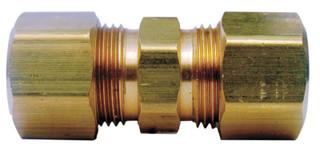 Ace 1/4 in. Compression x 1/4 in. Dia. Compression Yellow Brass Union