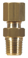 Ace 1/8 in. Compression x 1/4 in. Dia. Male Brass Connector