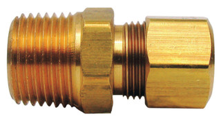 Ace 1/4 in. Compression x 1/4 in. Dia. Male Brass Connector