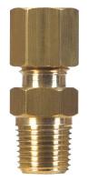 Ace 3/8 in. Compression x 1/4 in. Dia. Male Brass Compression Connector