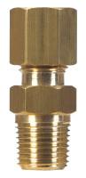 Ace 3/8 in. Compression x 1/2 in. Dia. Male Brass Compression Connector