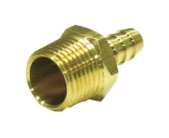 JMF Brass 1/4 in. Dia. x 1/2 in. Dia. Adapter Yellow 1 pk
