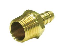 JMF Brass 1/2 in. Dia. x 1/4 in. Dia. Adapter 1 pk Yellow