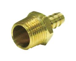 JMF Brass 3/8 in. Dia. x 5/8 in. Dia. Adapter 1 pk Yellow