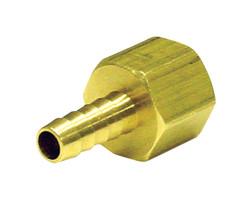 JMF Brass 1/8 in. Dia. x 3/8 in. Dia. Adapter 1 pk Yellow