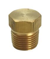 JMF 3/4 in. MPT Brass Hex Head Plug