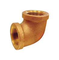 JMF 1/4 in. FPT x 1/4 in. Dia. FPT Brass 90 Degree Elbow