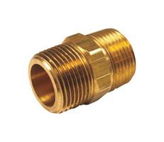 JMF 3/8 in. MPT x 1/4 in. Dia. MPT Brass Reducing Hex Nipple