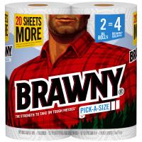 Brawny Paper Towels 120 sheet 2 ply 2 pk